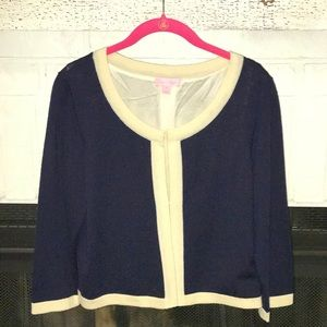 Lilly Pulitzer- navy blue cardigan- size M